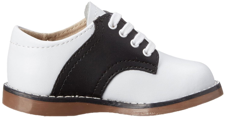 Infant//Toddler//Little Kid White//Black FootMates Kids Footwear FOOT MATES Cheer Laceup Saddle