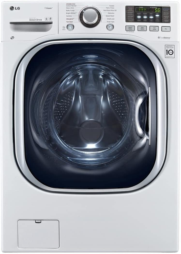 Amazon Com Lg Wm3997hwa Ventless 4 3 Cu Ft Capacity Steam Washer Dryer Combination With Turbowash Truebalance Anti Vibration System Neverust Stainless Steel Drum Allergiene Cycle In White Appliances