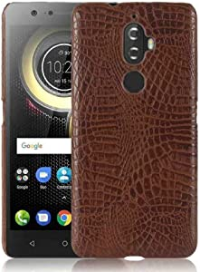 Lenovo Vibe K4Note/X3Lite A7010 Pure Color Case, Layout Crocodilian Touch Cayman Alligator New Slim Cover, DANGE Artificial Light Hard Thin Case For Lenovo Vibe K4 Note/X3 Lite Brown