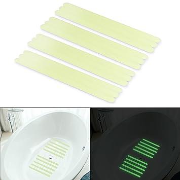 Non Slip Safety Shower Treads, Basenor Glow In The Dark Tape 12pcs  11.8u0026quot;