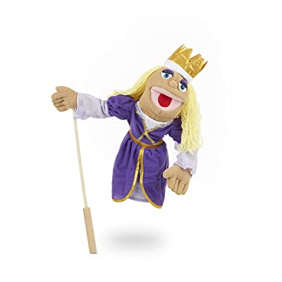 Melissa & Doug Royal Princess Puppet With Detachable Wooden Rod for Animated Gestures: Melissa & Doug: Toys & Games