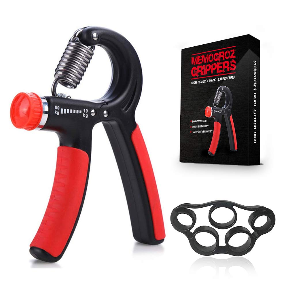 Hand Grip Strengthener – Adjustable Resistance 22-132 Lbs 10-60kg – Hand Gripper Exerciser – Hand Squeezer – Strengthen Grip – Hand Workout – Wrist Strengthener – Non-Slip Gripper with Gift Box