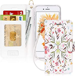FYY Luxury PU Leather Wallet Case for iPhone 6/6s, [Kickstand Feature] Flip Phone Case Protective Shockproof Folio Cover with [Card Holder] [Wrist Strap] for Apple iPhone 6/6s 4.7