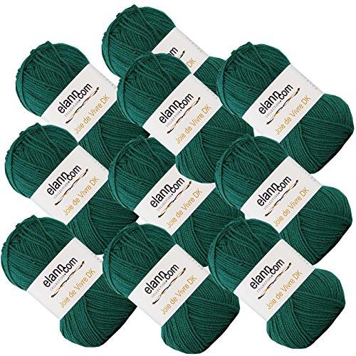 elann Joie de Vivre DK Yarn | 10 Ball Bag | 07 Emerald (Wool Dk Weight)