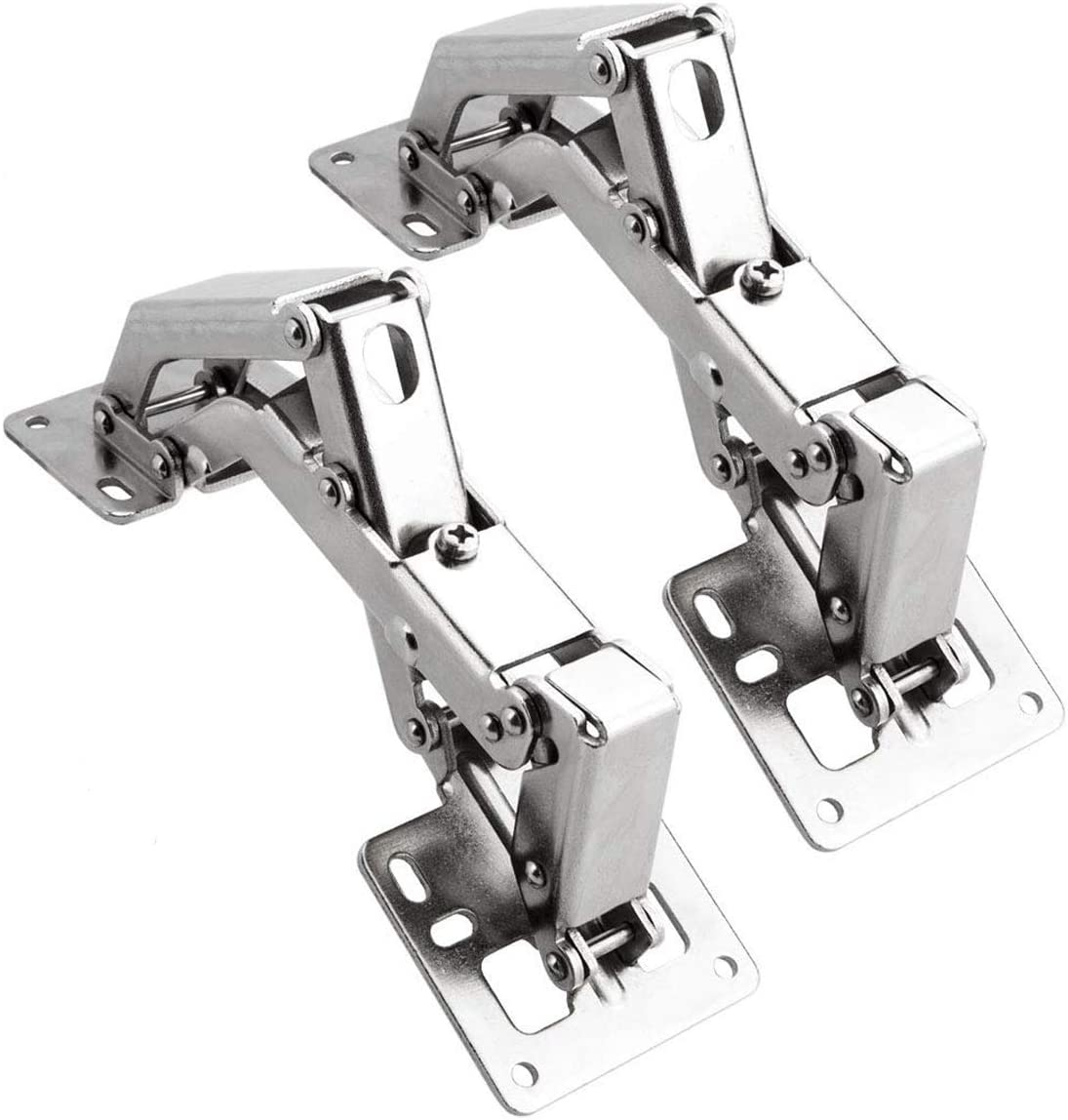 2Pcs 3 Inches Cabinet Hinge Window Door Hinges Damper Opening Angle 130 Degree