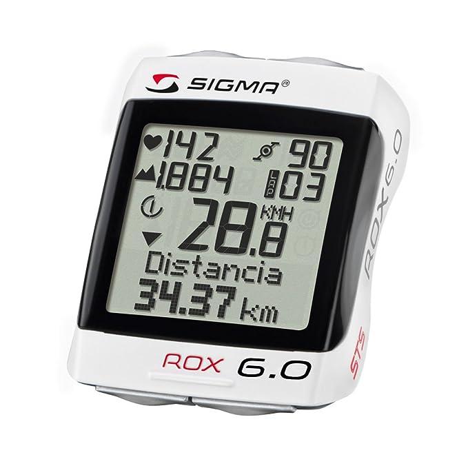 Sigma Rox 6.0 - Ciclocomputador inalámbrico con medidor de cadencia de pedaleo