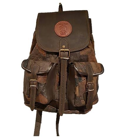 Mochila para Caza Fabricada en Piel Medieval.Medidas 34x32x12