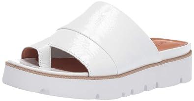9ed90c1081b Gentle Souls by Kenneth Cole Lavern Patent Leather Platform Slide Sandal  White