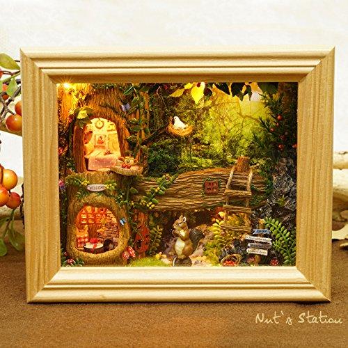 Dollhouse Miniature Scene (Cuteroom DIY Kit life scene photo frame Dollhouse Miniature Xmas/Birthday Gift Nut's station B)