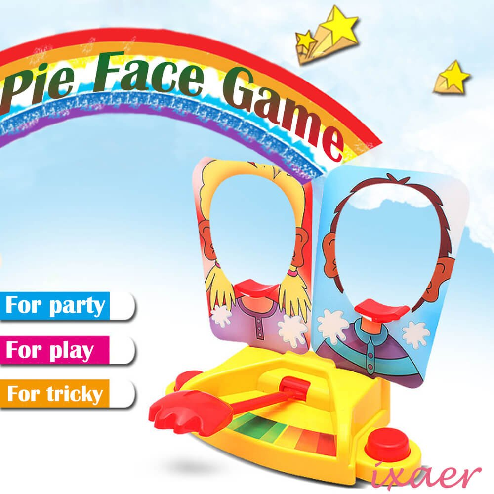 ixaer Pie Face Game Tricky Toys Double Cream Face Mask Family Game for Children Rocket Gaming Family Kids Children Novelty Toys Gift. by ixaer (Image #1)