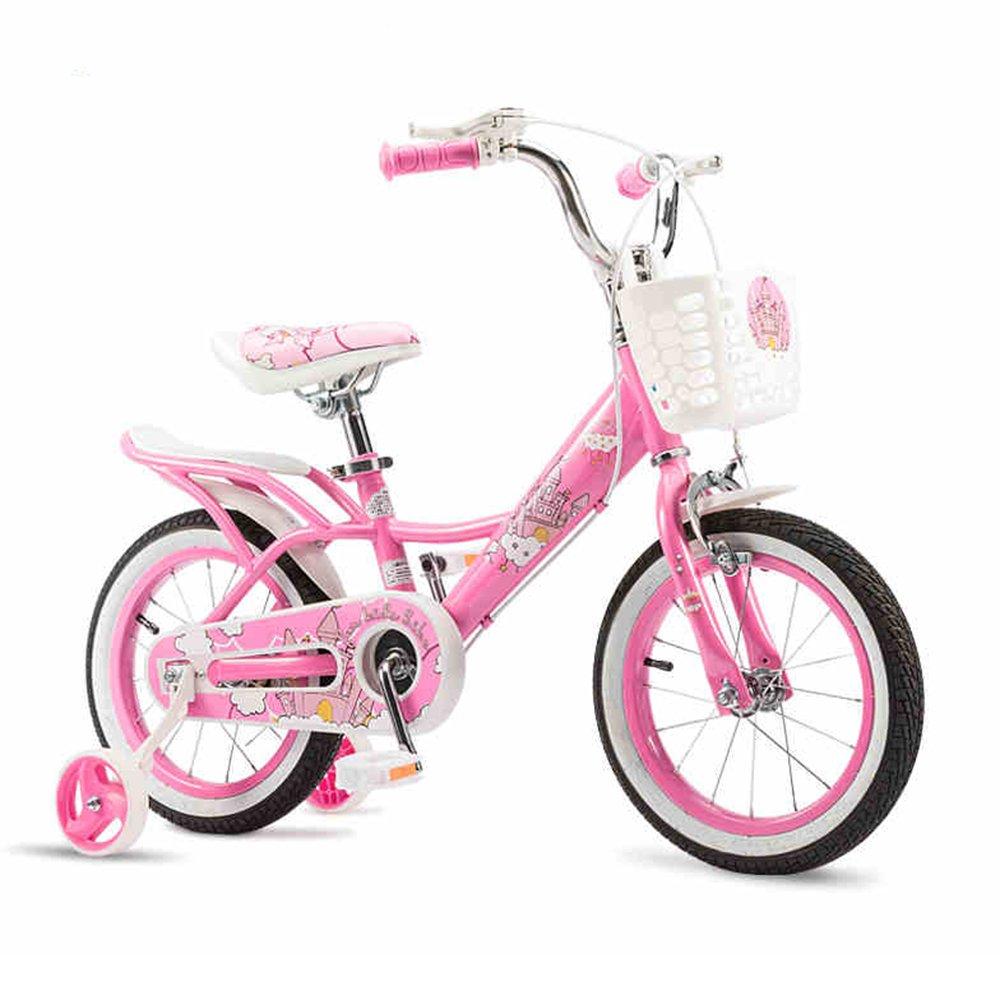 HAIZHEN マウンテンバイク キッズバイク、トレーニングホイール付きガールズバイク、12インチ、14インチ、16インチ、18インチ、子供用ギフト 新生児 12 inch A B07C42GCD2