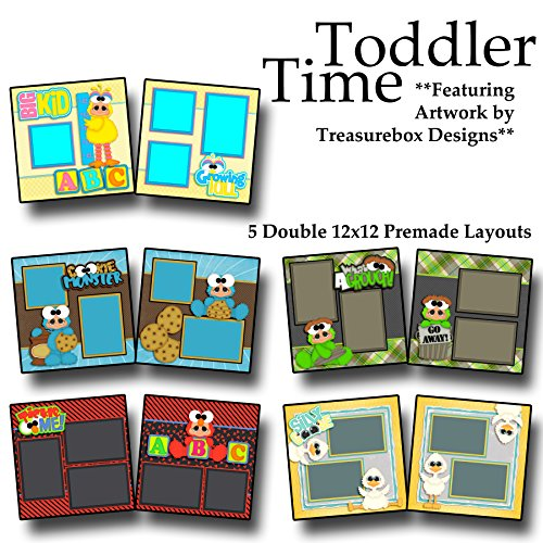 (TODDLER TIME Scrapbook Set - 5 Double Page Layouts)