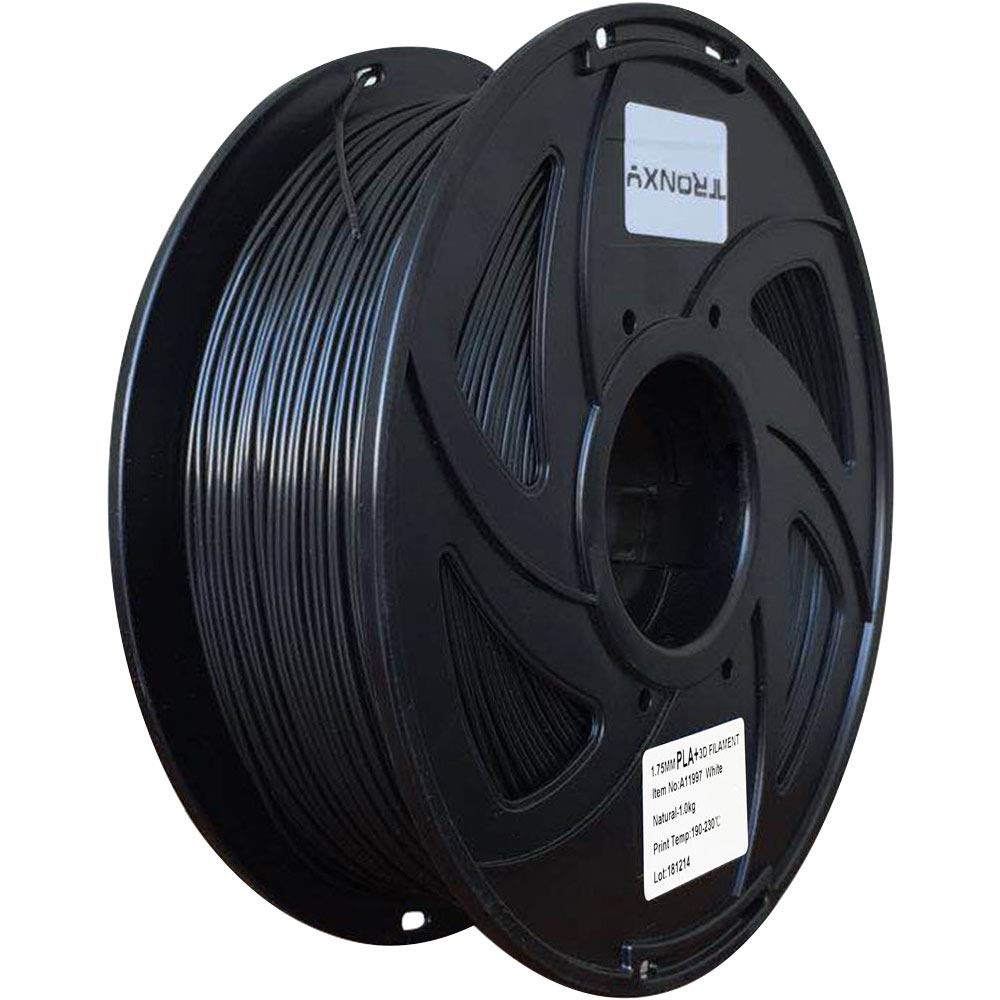 Black PLA+ 3D Printing Filament 1.75 mm, 2.2 LBS (1KG) Dimensional Accuracy +/- 0.02 mm(Black PLA+)