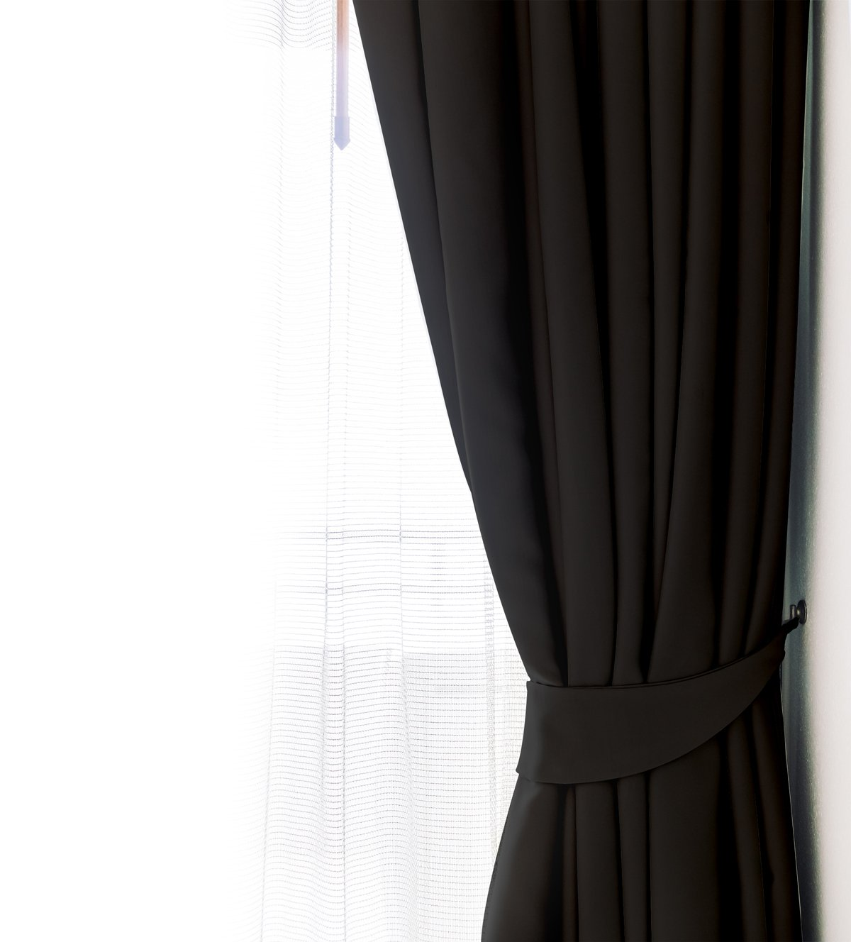 Blackout Room Darkening Curtains Window Panel Drapes Black Color
