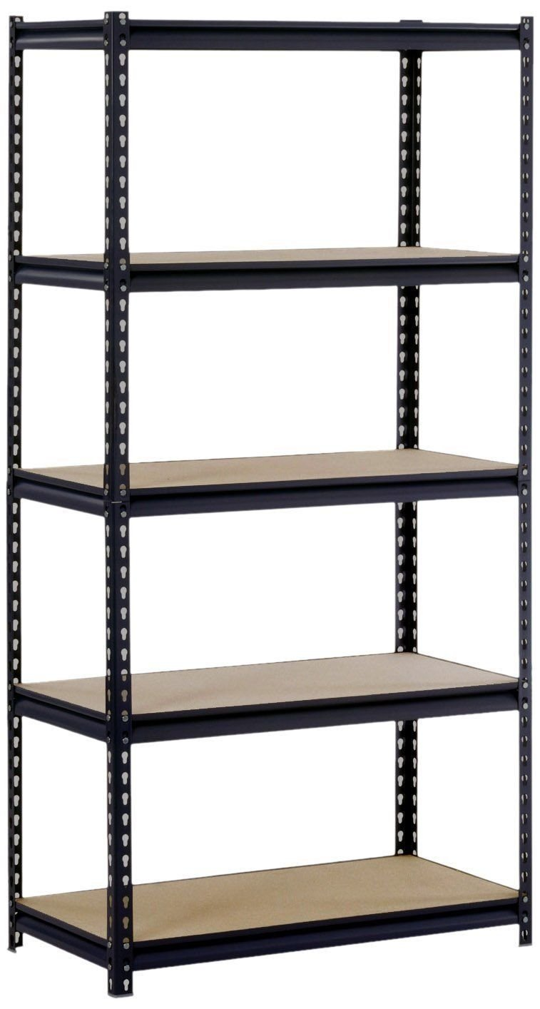Tek Widget Heavy Duty 5 Tier Adjustable Metal Storage Unit