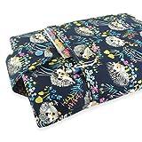 Handmade Hedgehog Fabric Book Sleeve - Padded - Perfect For Hardbacks Or Large Paperbacks