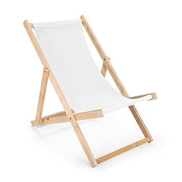 Chaise longue Transat en bois Chaise de jardin N/9: Amazon.fr: Jardin