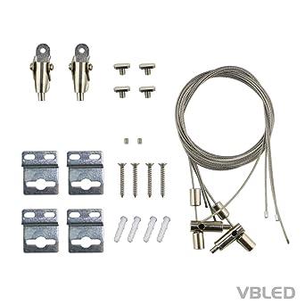 VBLED® Drahtseil-Aufhängung für LED-Panel geeignet für Tunable White ...