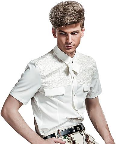 FANZHUAN Camisas Manga Corta Hombre Vaqueras Moda Blanca Camisa Blanca Verano Hombre: Amazon.es: Ropa y accesorios