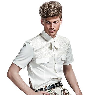 FANZHUAN Camisa Blanca De Vestir Camisa Hombre Blanca Slim Fit ...