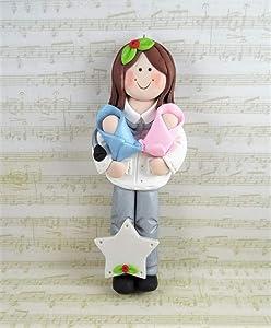 Female OB GYN Obstetrician Doctor Handmade Clay Christmas Ornament