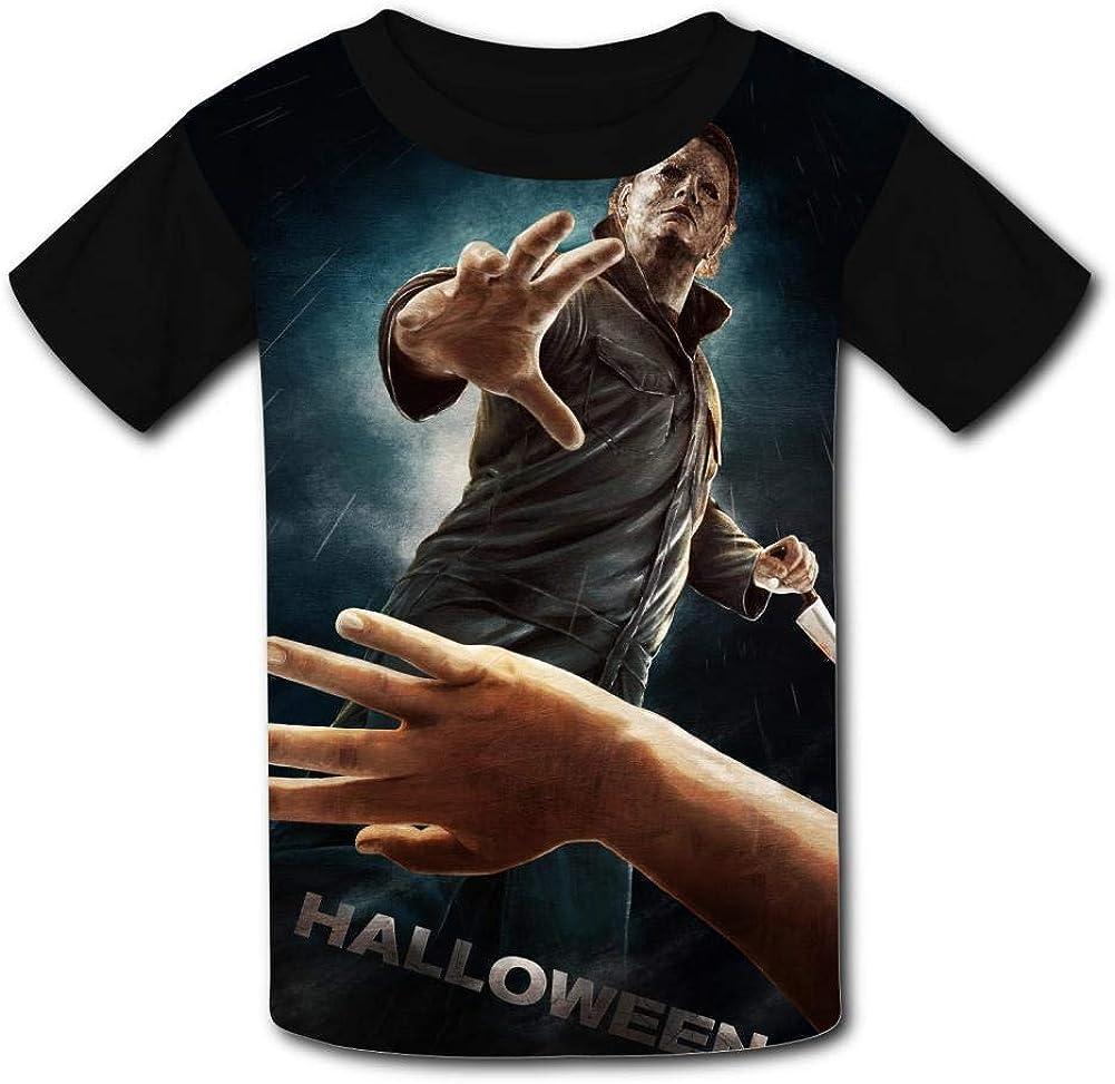 MOEYBOR Mi-Chael-Myers Art T-Shirts,Novelty Short Sleeves Tee for Kids//Teen//Boys//Girls