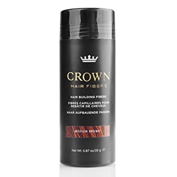 CROWN Hair Fibers - Best Keratin Hair Fibers Instantly Thickens Thinning Hair for Men and Women