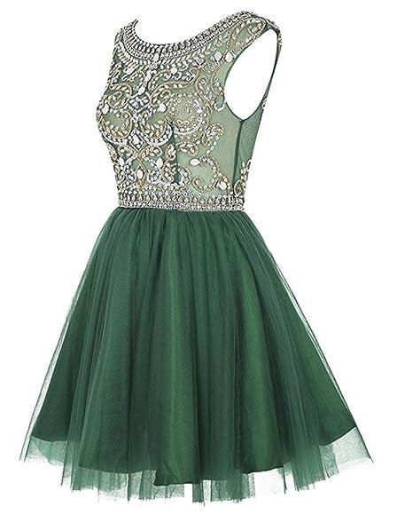 NewFex Beaded Backless Cocktail Dress Zipper Closure Evening Party Prom Dress