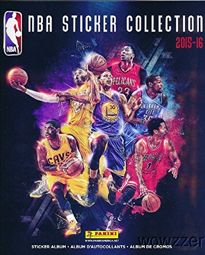 (2015/2016 Panini NBA Basketball HUGE 72 Page Stickers Collectors Album with TEN(10) Bonus Basketball Stickers ! Great Basketball Collectible to house your NEW Panini NBA Stickers!)