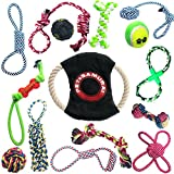Pet Samurai 15 Pack Puppy Toys - Dog Rope Toys, IQ Treat Ball, Frisbee, and More - Puppy Teething Toys for Small Breed and Medium Breed. Perfect for Puppy Chew Toys and Fun for Playtime