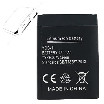 Batería recargable del litio de la batería X6 del reloj elegante con 350MAH de alta capacidad