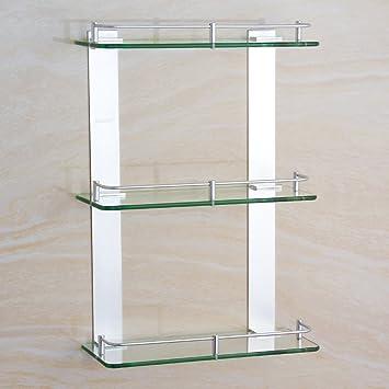 Handtuchhalter Space Aluminium drei Glas Regal Badezimmer Badezimmer ...