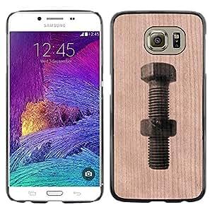 - Bolt Mechanic Handyman Tool - - Funda Delgada Cubierta Case Cover de Madera FOR Samsung Galaxy S6 G9200 BullDog Case