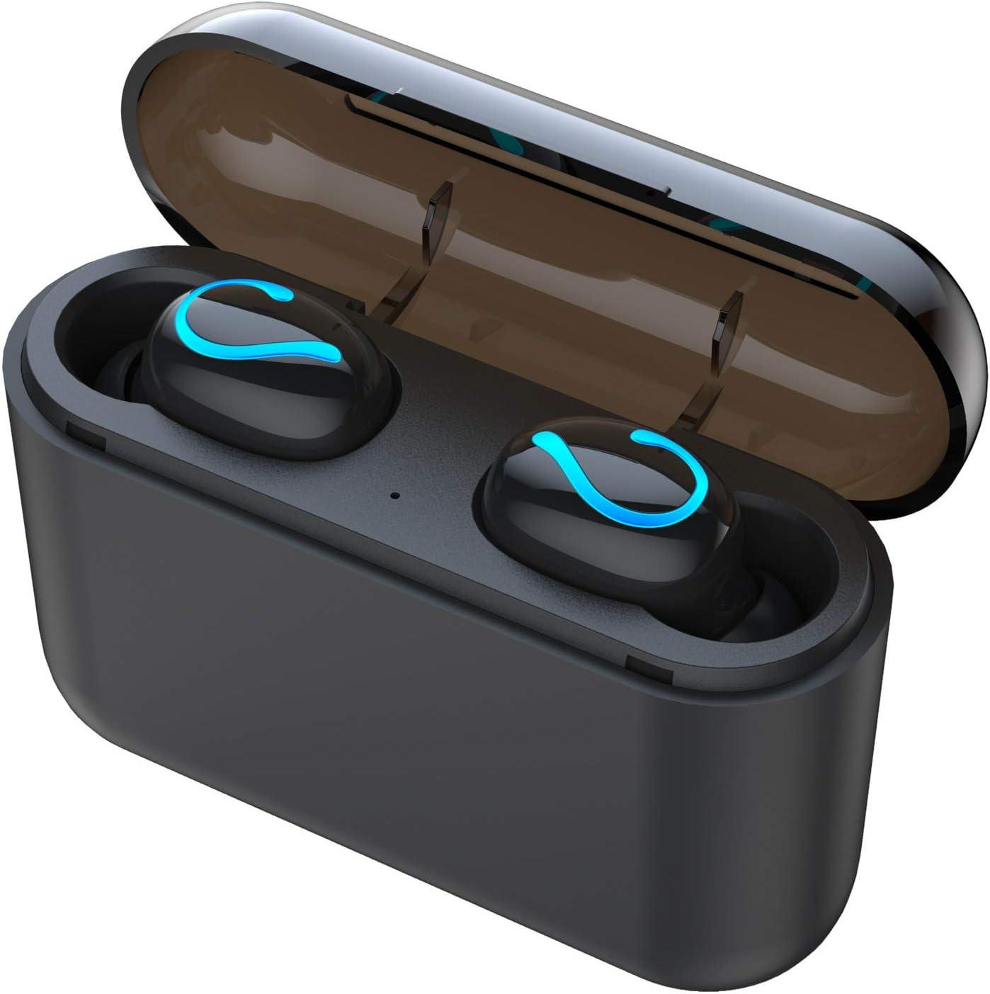 Auricular Bluetooth Hbq De Movimiento Estéreo Inalámbrico De Dos Orejas 2c De Potencia Móvil TWS Negro 5.0