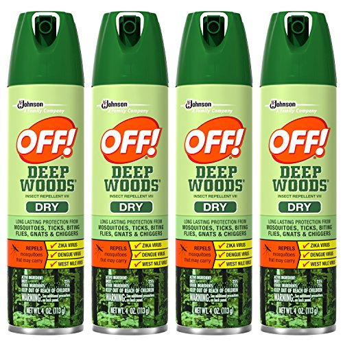 Off! Deep Woods Insect Repellent VIII Dry, 4 Ounce (Pack of 4) by OFF!