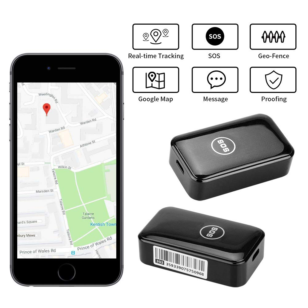 Dooreemee Free Mini Magnet GPS Tracker for Vehicle, Kids, Assets, Cars- Real-time Tracking Device with No Subscription fee G66