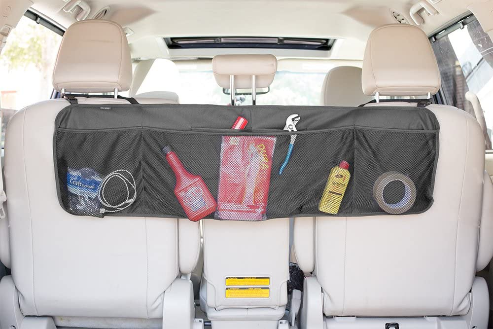 Lebogner Back Seat Trunk Organizer Adjustable Strap Auto Trunk Organizer Backseat Hanging Storage Organizer 5 Pocket Space Saving Car Organizer Multipurpose Cargo Accessories Under Seat Organizer