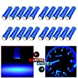 mitsubishi 3000gt speedometer - CCIYU 20 x T5 Ultra Blue 58 70 73 74 Dashboard Gauge 2SMD LED Wedge Lamp Bulb Light For 2009-2013 Toyota Tundra Sequoia 4.6L 4.7L 5.7L/ 2009-2012 Mitsubishi Eclipse 3.8L/2.4L