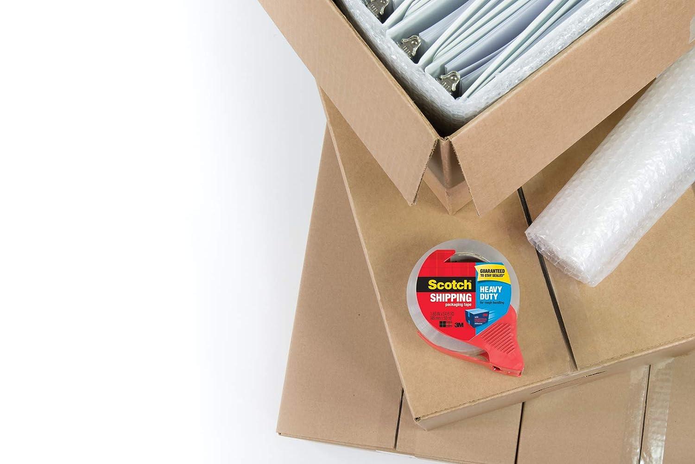 1.88 x 54.6 Yards 3850-3 3 Rolls Scotch Heavy Duty Shipping Packaging Tape 3 Core