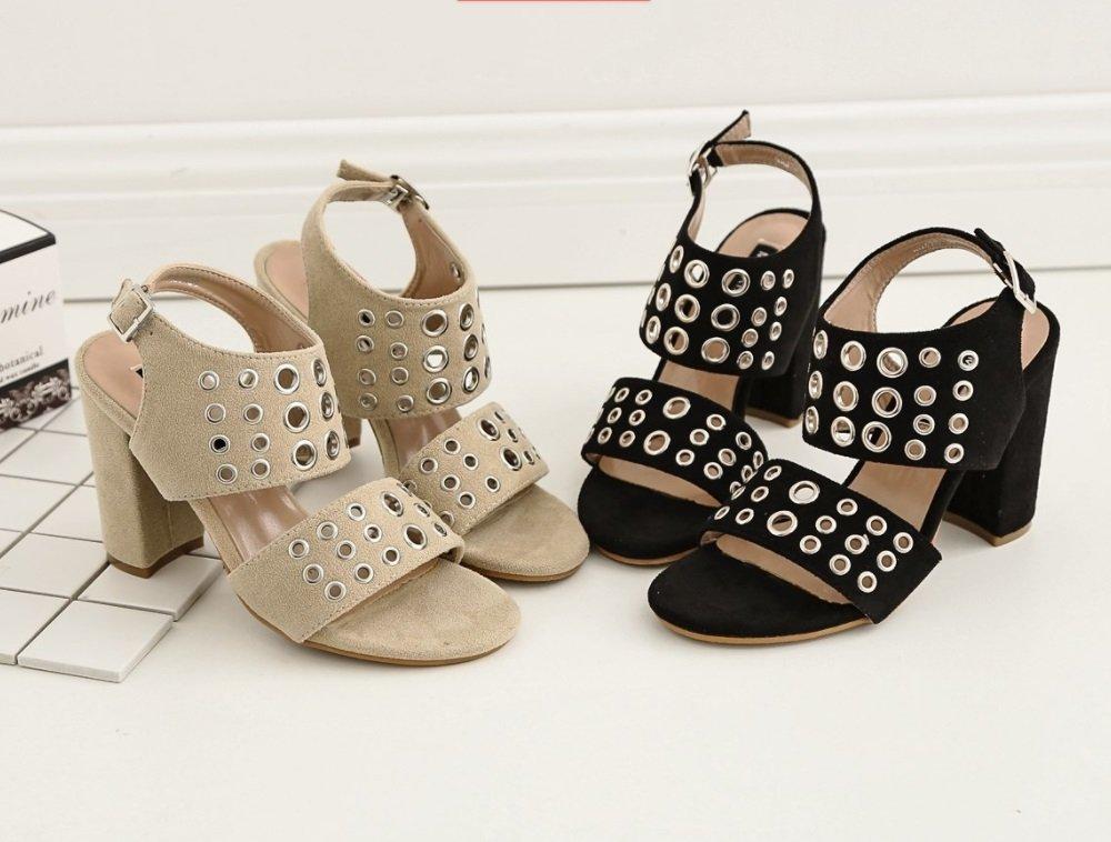 TMKOO 2018 Weibliche Modelle High Heels 2018 TMKOO Sommer Neue Sandalen Casual Schuhe Mode Arbeit Schuhe Sexy Party Schuhe (Farbe : Schwarz, Größe : Us8/eu39/uk6/cn39) Schwarz e1dc51