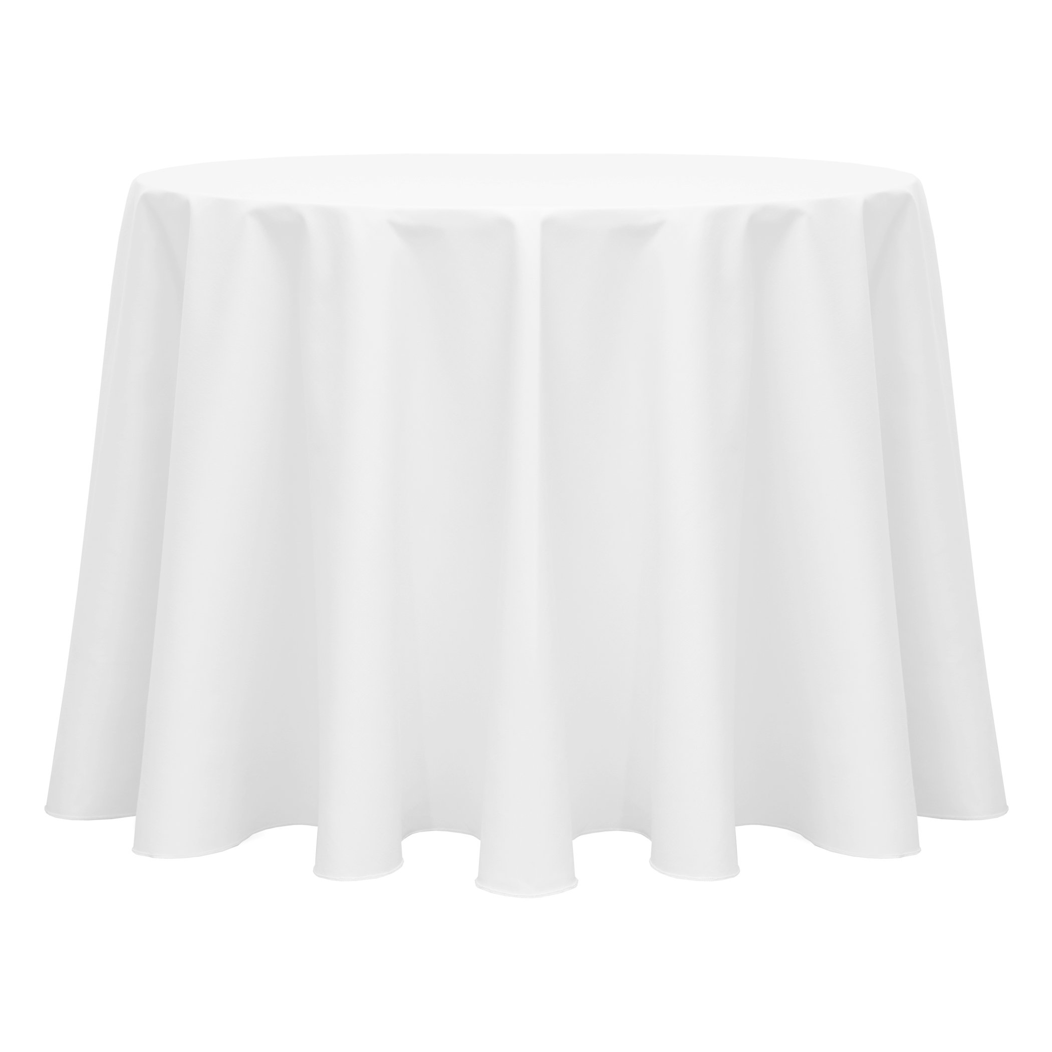 Ultimate Textile (5 Pack) Poly-cotton Twill 108-Inch Round Tablecloth - for Restaurant and Catering, Hotel or Home Dining use, White