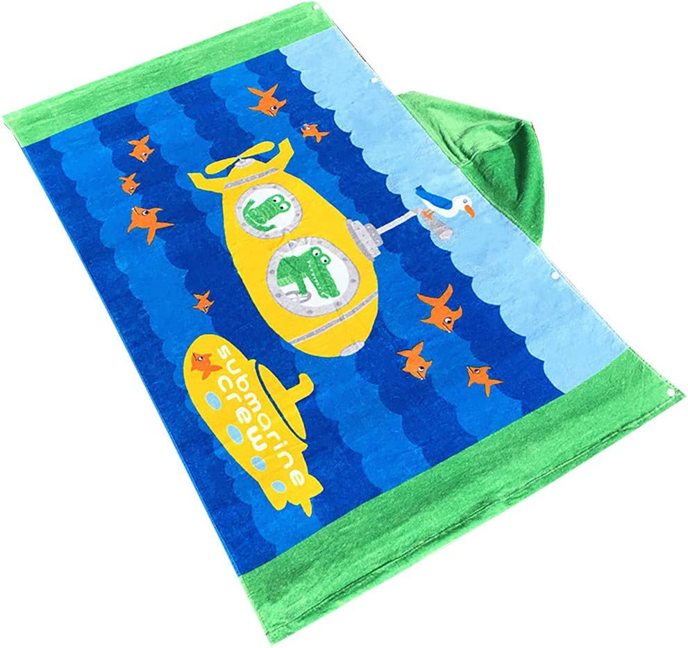 Home Textiles HotSales B Toddler Hooded Beach Bath Towel Shark Soft Swim Pool Coverup Poncho Cape for Boys Kids Children 1-12 Years Old Bath Robe Fineday Beach Towel