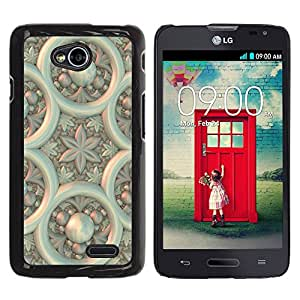 Qstar Arte & diseño plástico duro Fundas Cover Cubre Hard Case Cover para LG Optimus L70 / LS620 / D325 / MS323 ( Design Wallpaper Wall Art Architecture Flower)