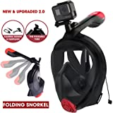 SEAWES Ultimate Full Face Snorkel Mask – 180° Panoramic Anti-fog Vision & Anti-Leak Design, GoPro Compatible, Safe & Adjustable Dry Snorkelling & Diving Gear – New & Upgraded For Easy Breathing