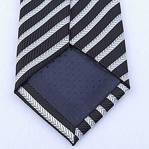 Tie White Striped Business Wear Arrowhead Men'S Necktie And Black Polyester SEESUNGM Men'S Stripes Black 1d7Fx1qZ