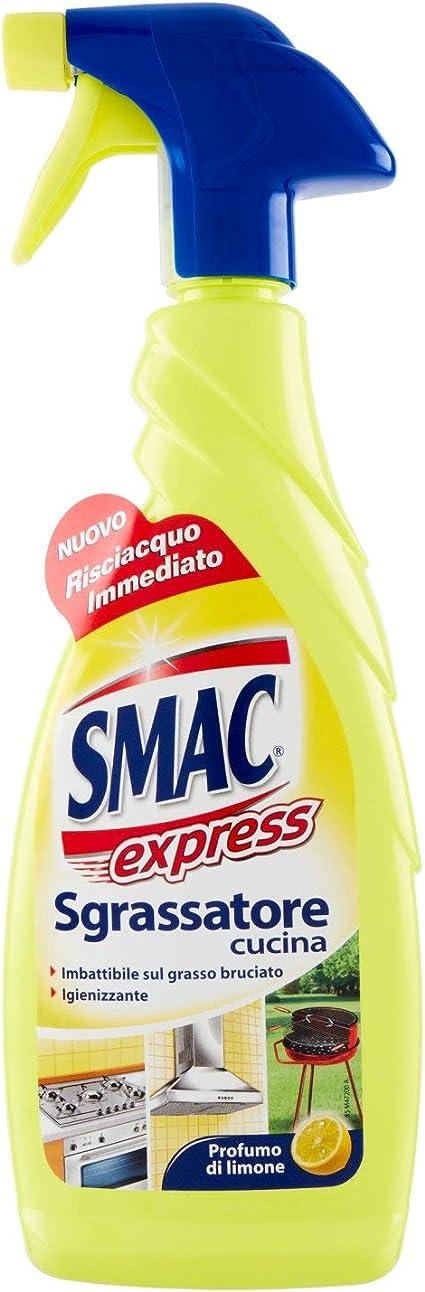 Smac Express Sgrassatore Cucina Imbattibile Sul Grasso Bruciato Igienizzante Profumo Di Limone 650ml Amazon It Salute E Cura Della Persona