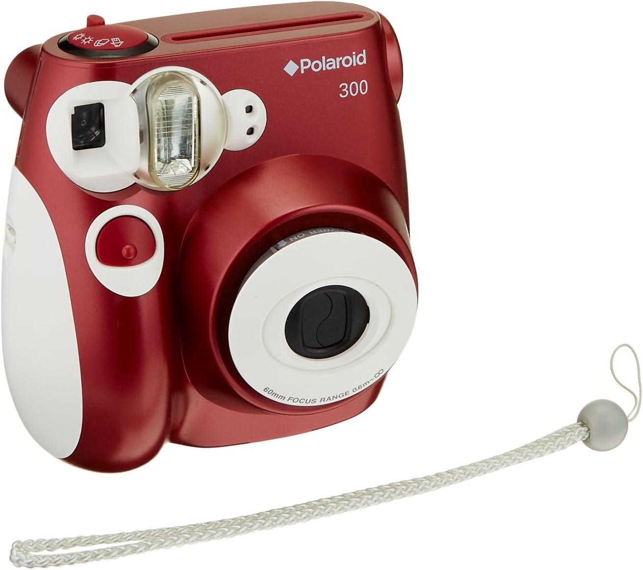 Polaroid PIC-300 - Cámara de película instantánea, color rojo ...