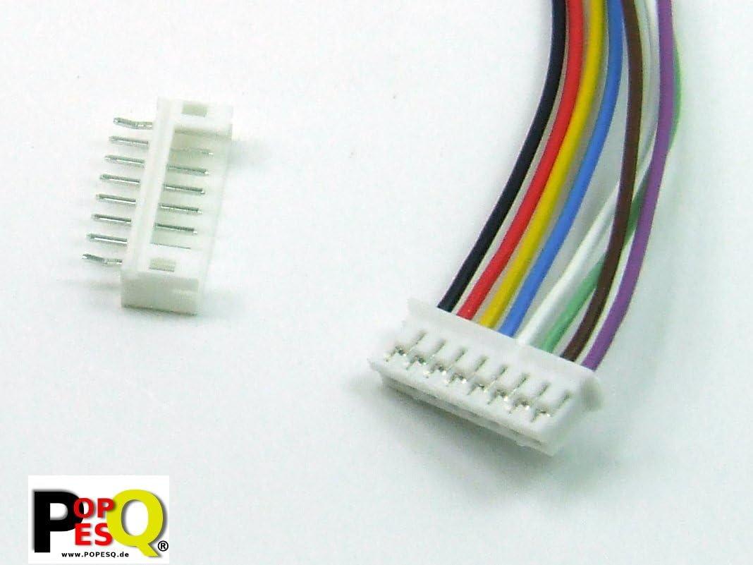 POPESQ/® Male Connector PCB #A1829 Conector Hembra Conector Macho Recto 8 Pines//Pins Header 2mm
