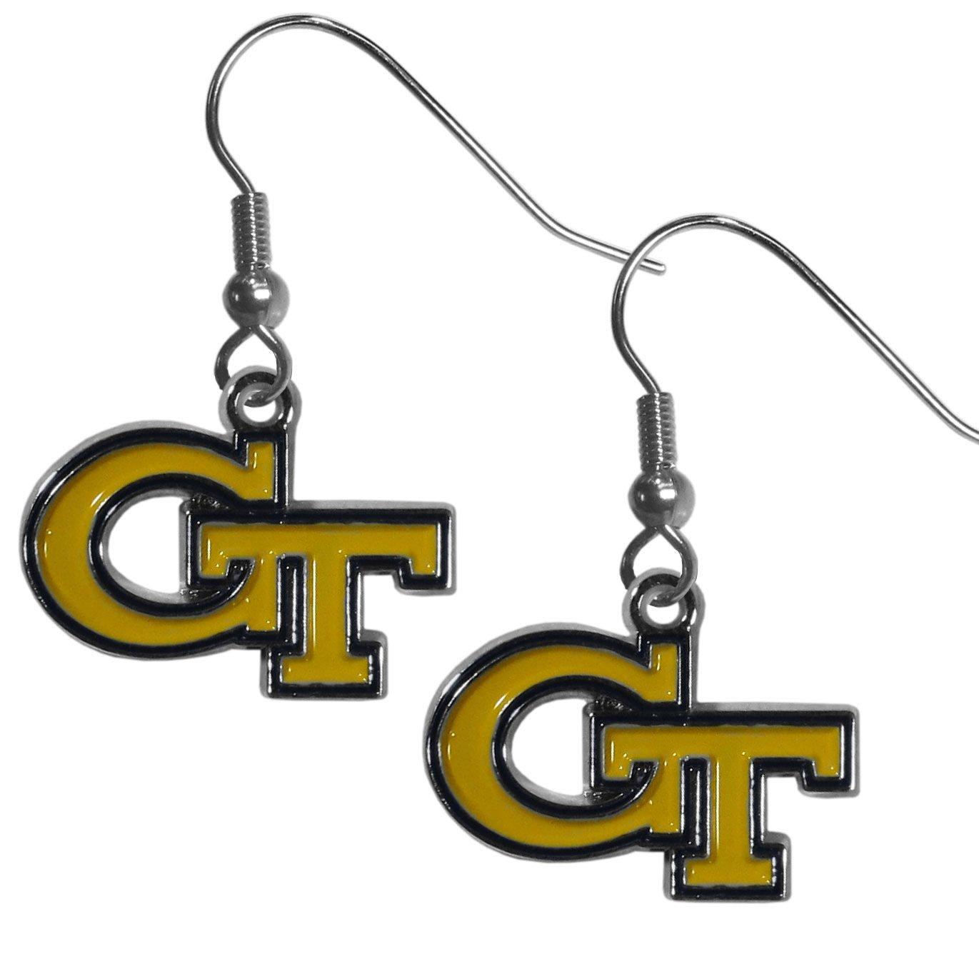 Siskiyou NCAA Georgia Tech Chrome Dangle Earrings