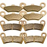 Front and Rear Sintered Brake Pads for Polaris 800 Ranger RZR S EFI Razor 2009 2010 2011 2012 2013